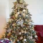 Decoracion de navidad plata con dorado (21)