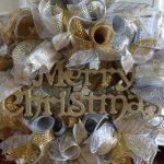 Decoracion de navidad plata con dorado (23)