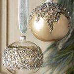 Decoracion de navidad plata con dorado (24)