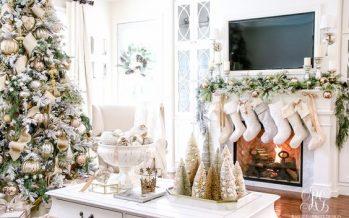 Decoracion de navidad plata con dorado