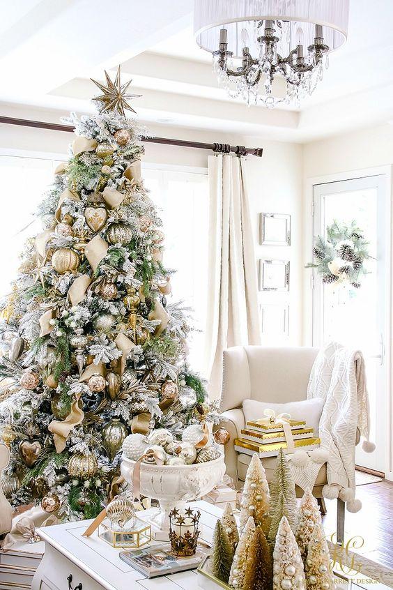 Mas ideas para la sala Navidad color Gold Dorado Oro