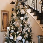 Decoracion de navidad plata con dorado (9)