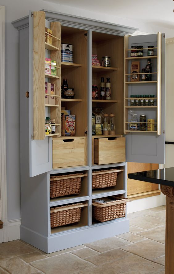 Diseños de alacenas para la cocina (4)
