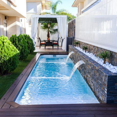 Diseños de jardines con piscinas