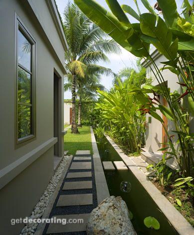 Diseños de pasillos en el jardín