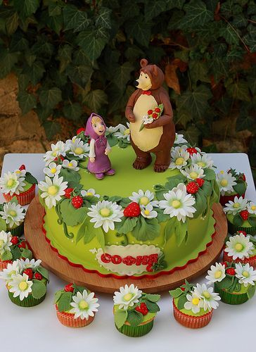 Fiesta de cumpleaños temática de Masha y el Oso