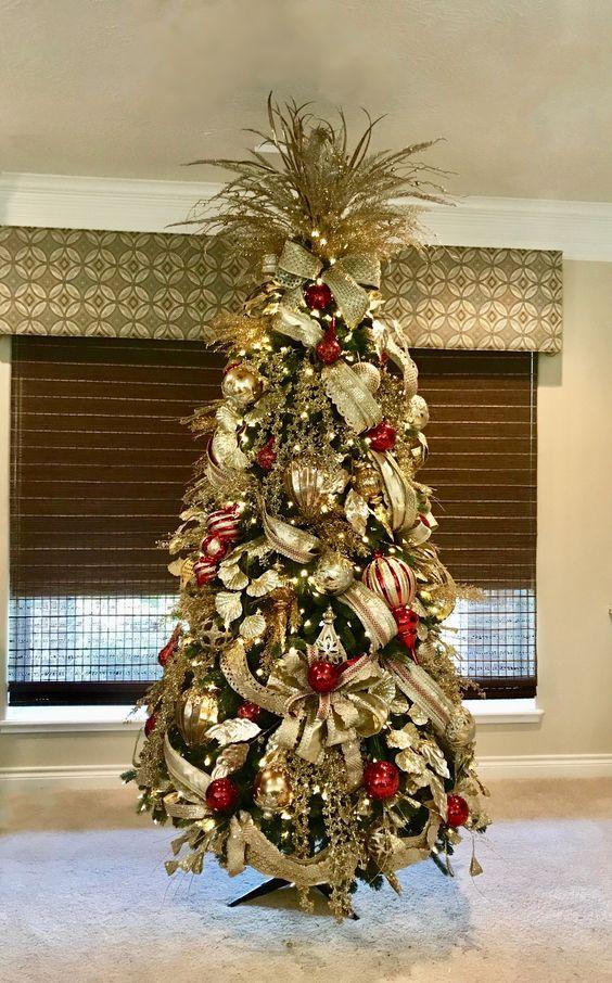 Formas de decorar tu arbol de navidad con liston 13 decoracion de interiores fachadas para - Arbol de navidad en casa ...