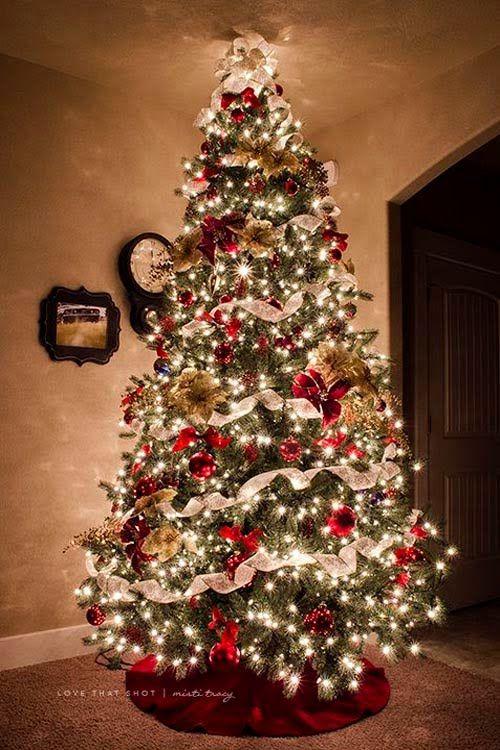 Formas de decorar tu arbol de navidad con liston 23 for Maneras de decorar tu casa