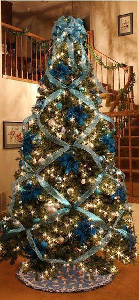 Formas de decorar tu arbol de navidad con liston (4)