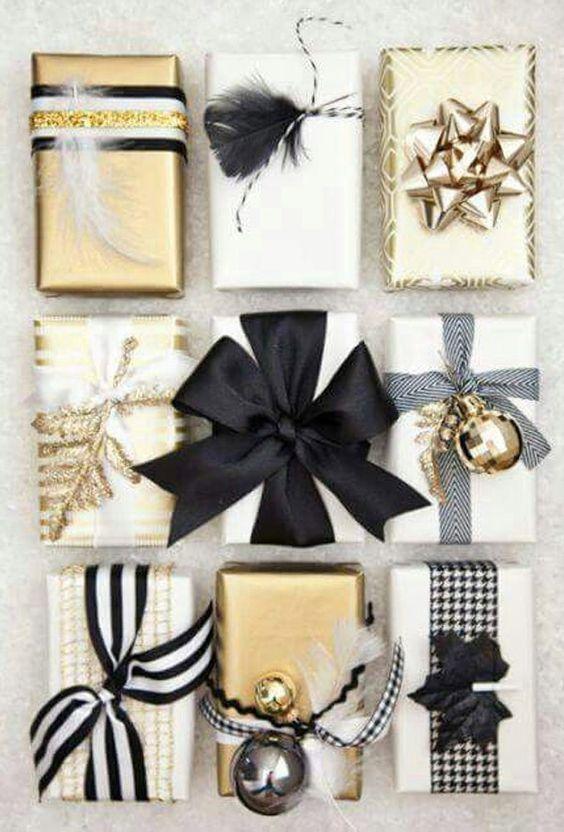 Ideas para envolver regalos en navidad elegantes