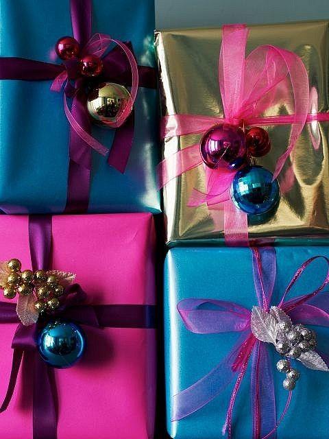Envolturas navideñas coloridas