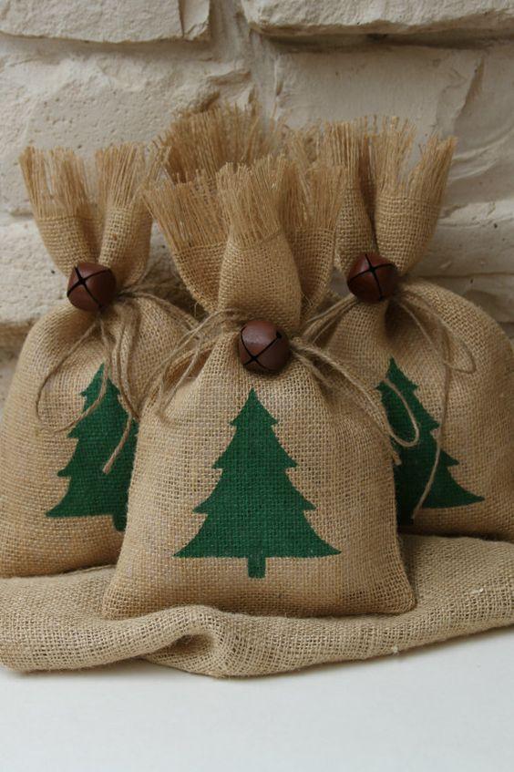 Envolturas navideñas con yute