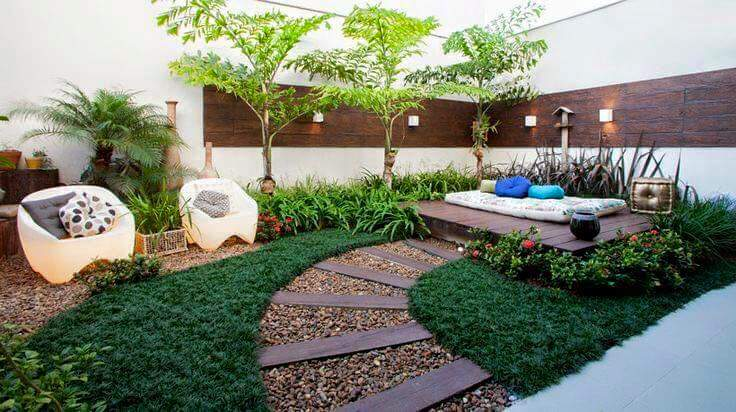 Dise o de jardines para casas conoce las tendencias 2018 Jardines verticales para patios pequenos