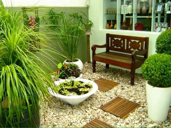 Ideas para jardines pequenos (4) | Decoracion de interiores Fachadas ...