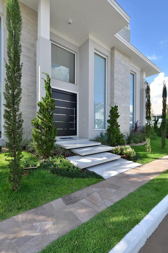 Dise o de jardines para casas conoce las tendencias 2018 - Entrada de casas modernas ...
