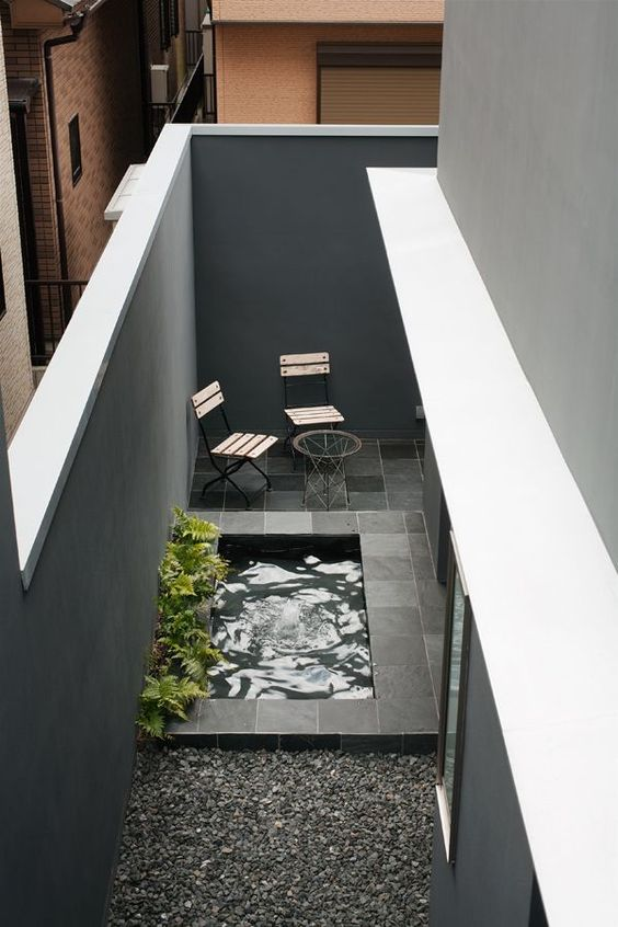 Jardín pequeño moderno