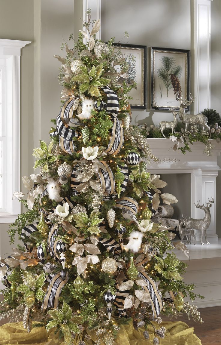 How Decorate A Christmas Tree With Ribbon