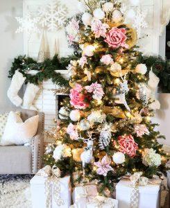 Mas de 150 fotos de decoracion para arboles de navidad modernos (139)