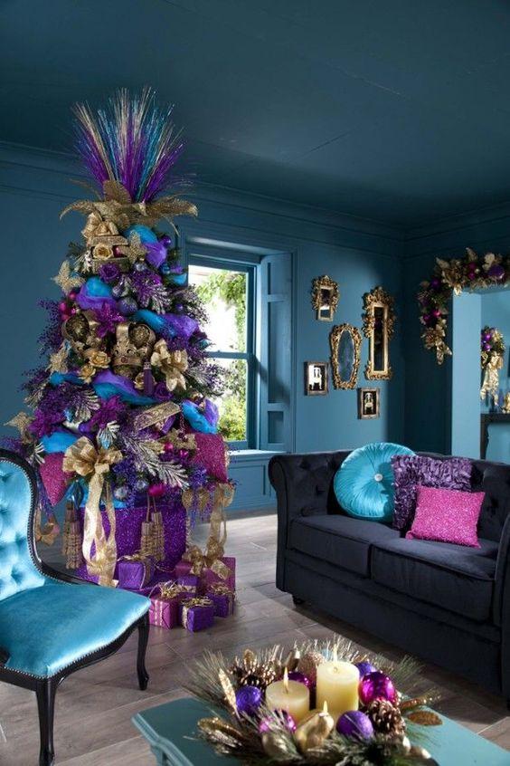 Mas de 150 fotos de decoracion para arboles de navidad modernos (166)