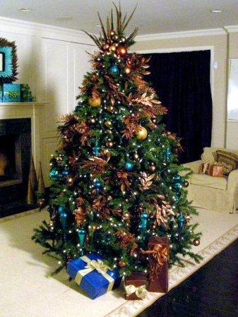 Mas de 150 fotos de decoracion para arboles de navidad modernos (184)