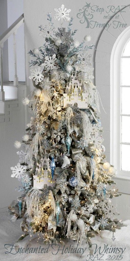 Mas de 150 fotos de decoracion para arboles de navidad modernos (52)