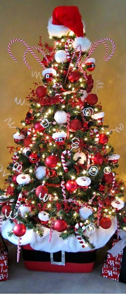 Mas de 150 fotos de decoracion para arboles de navidad modernos (72)