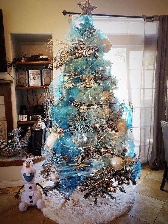 Mas de 200 fotos de arboles de navidad decorados originales tendencia 2018-2019 (163)