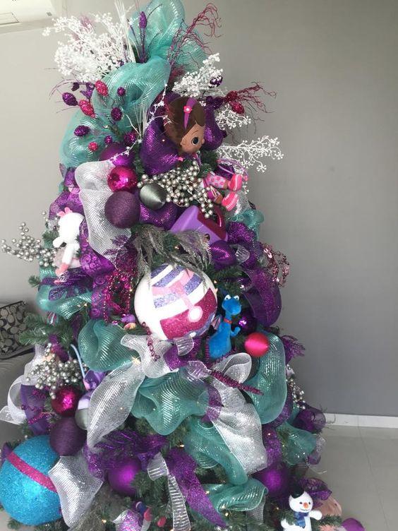 Mas de 200 fotos de arboles de navidad decorados originales tendencia 2018-2019 (166)