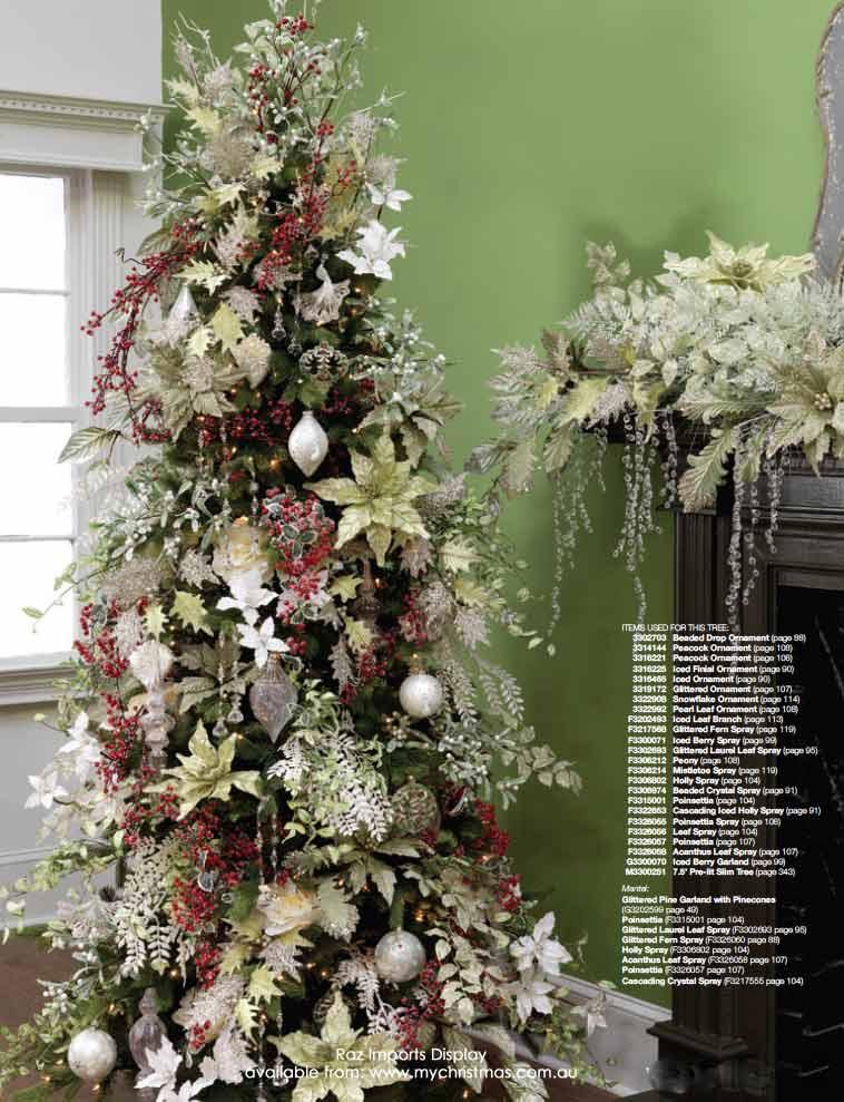 Mas de 200 fotos de arboles de navidad decorados for Adornos para arbol de navidad 2016