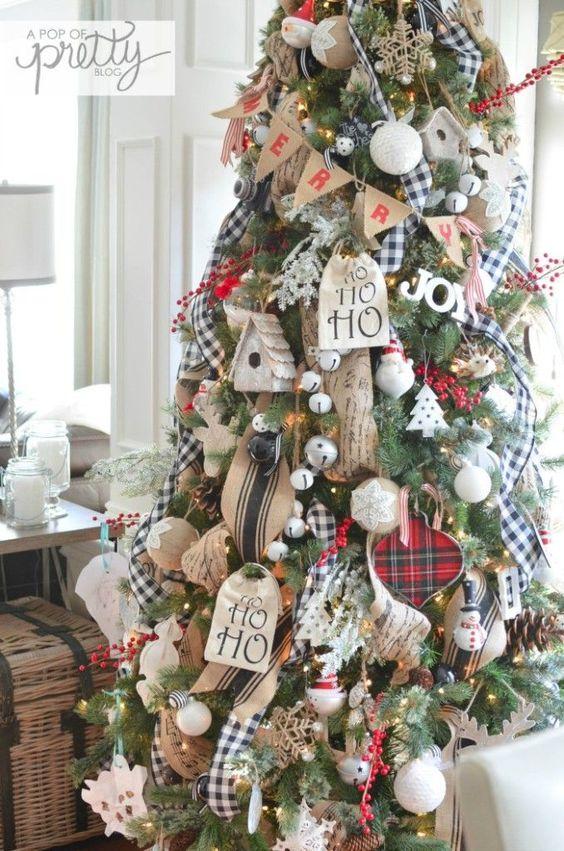 Mas de 200 fotos de arboles de navidad decorados originales tendencia 2018-2019 (231)