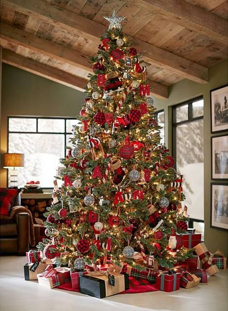 Mas de 200 fotos de arboles de navidad decorados originales tendencia 2018-2019 (240)