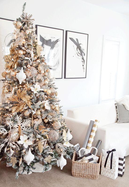 Mas de 200 fotos de arboles de navidad decorados originales tendencia 2018-2019 (245)