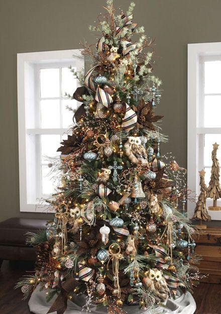 Mas de 200 fotos de arboles de navidad decorados originales tendencia 2018-2019 (270)