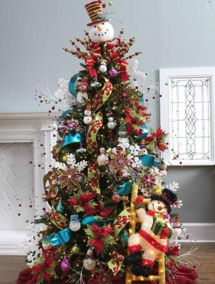 Mas de 200 fotos de arboles de navidad decorados originales tendencia 2018-2019 (6)