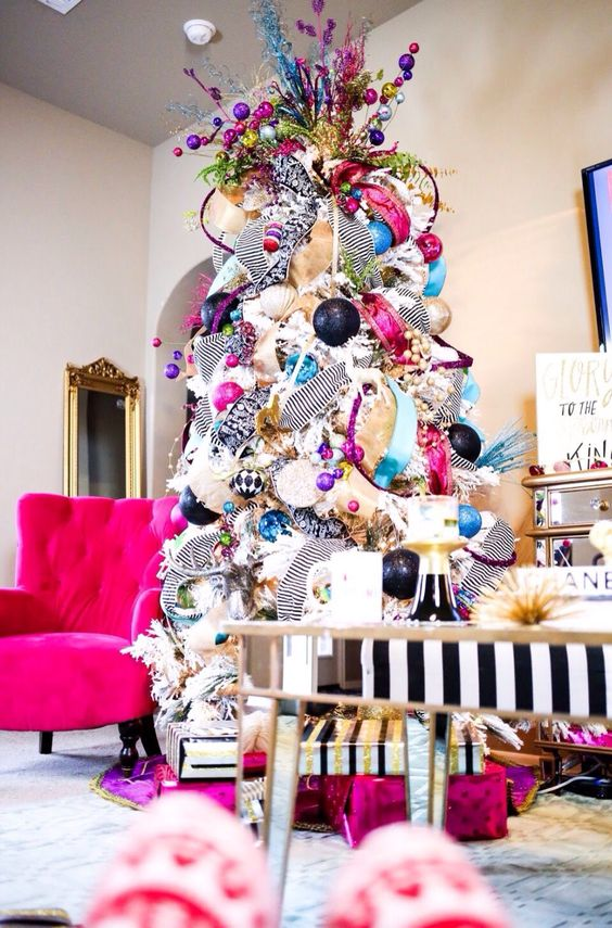 Colorful Artificial Christmas Trees