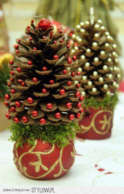 adornos navidenos con pinas secas (6)