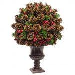 centros de mesa navidenos con pinas secas (1)