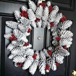 coronas para puertas con pinas secas (3)