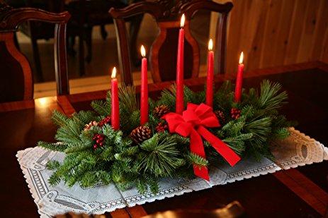 Centros de Mesa navideños con Velas