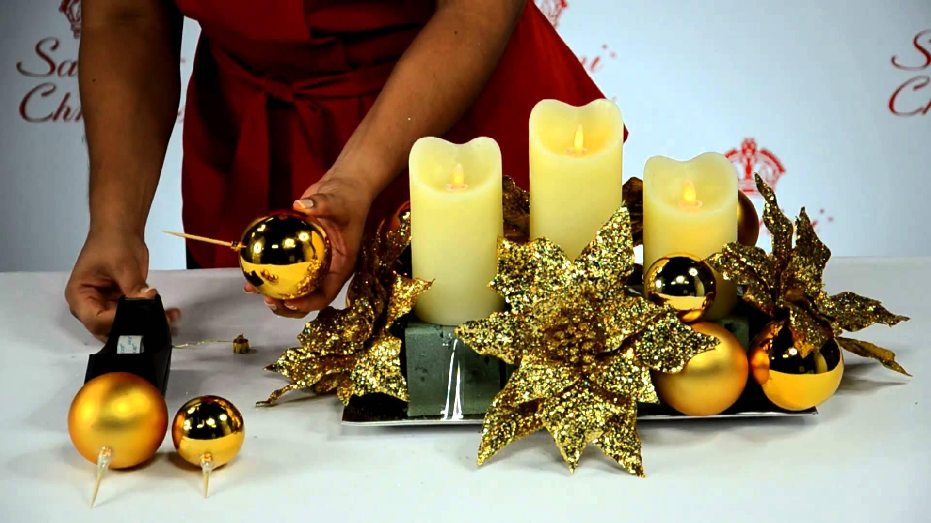 De 25 incre bles centros de mesa de navidad y como hacerlos for Como hacer arreglos de navidad
