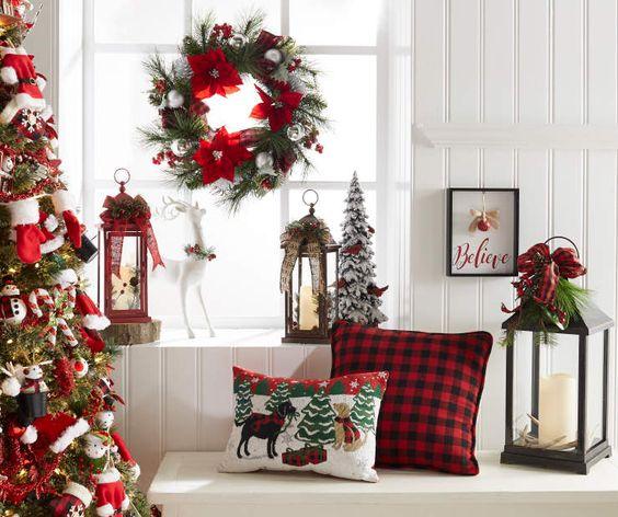 Navidad decoracion de interiores fachadas para casas for Decoracion navidena para oficinas
