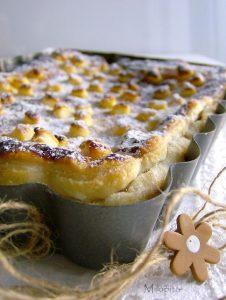 ingredientes del pastel templado de frutas para el invierno
