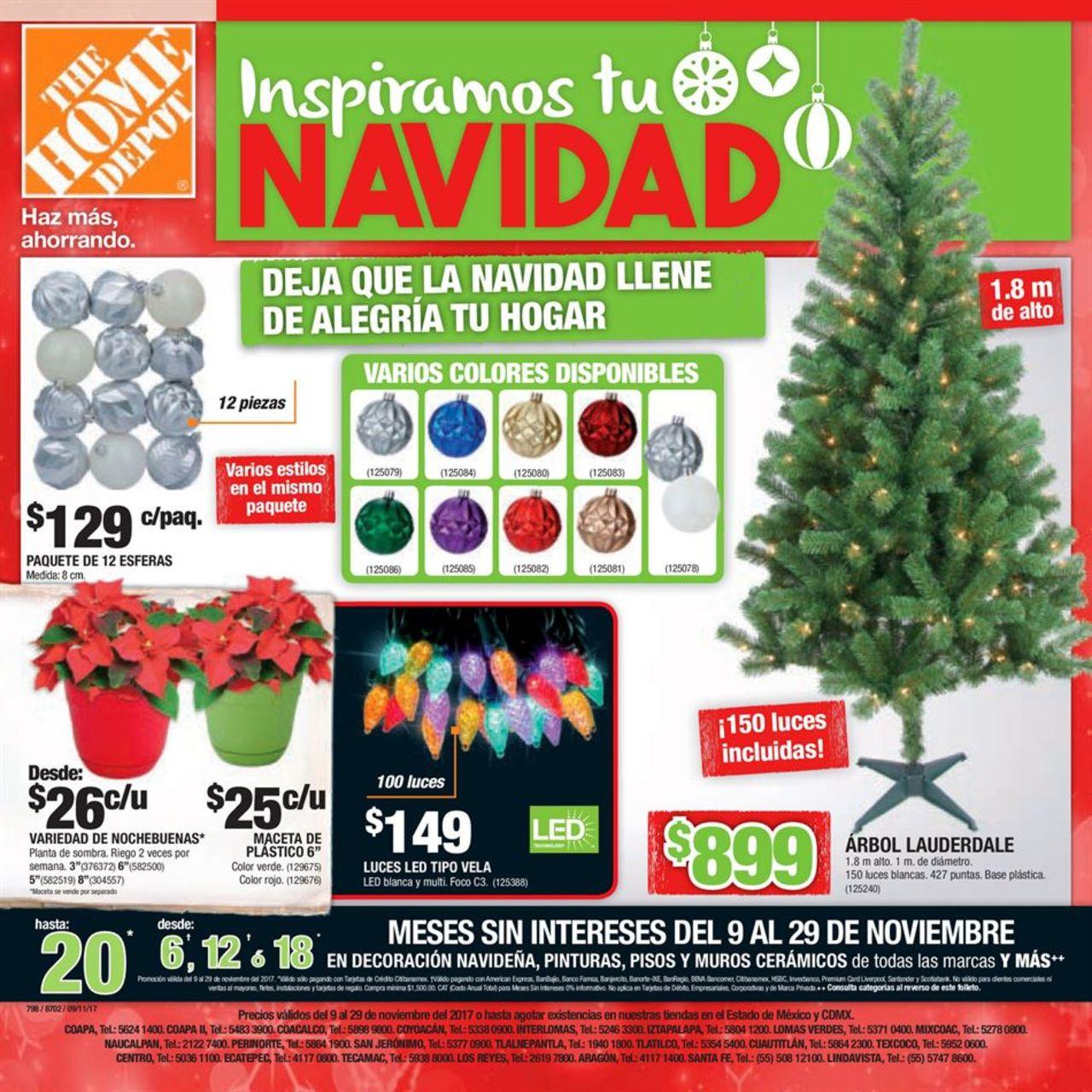inspiremos tu navidad 2017 catalogo the home depot | Decoracion de ...