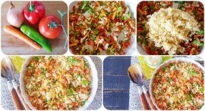 receta para vegetariano ensaladilla de bulgur (3)