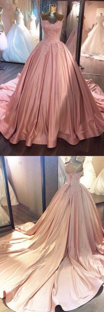 Stock pink dresses 15 years (1)