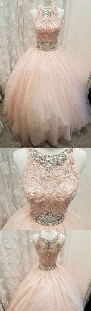 Tendencias de vestidos para quince años de dos piezas