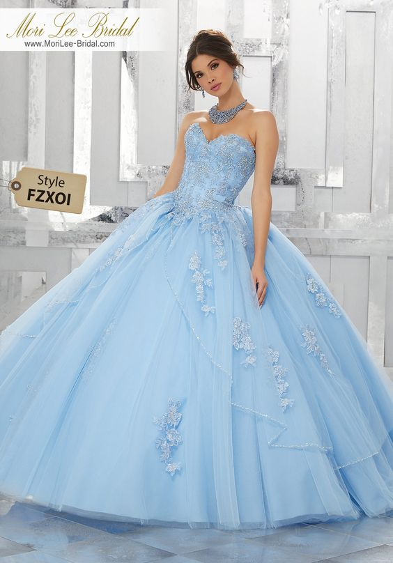 15 years baby dresses blue (2)