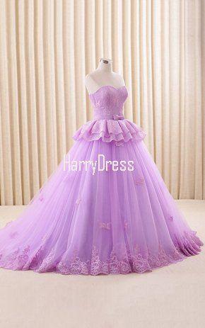 Vestidos de 15 años lila