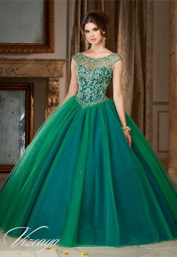 Vestidos de quince en verde agua