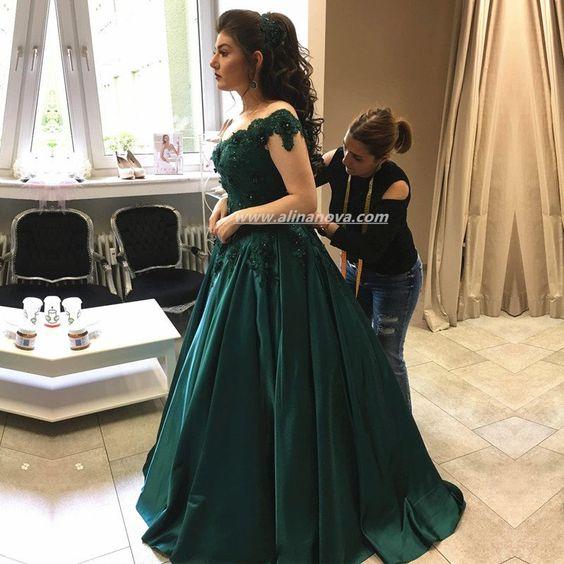 Vestidos verde esmeralda para graduacion